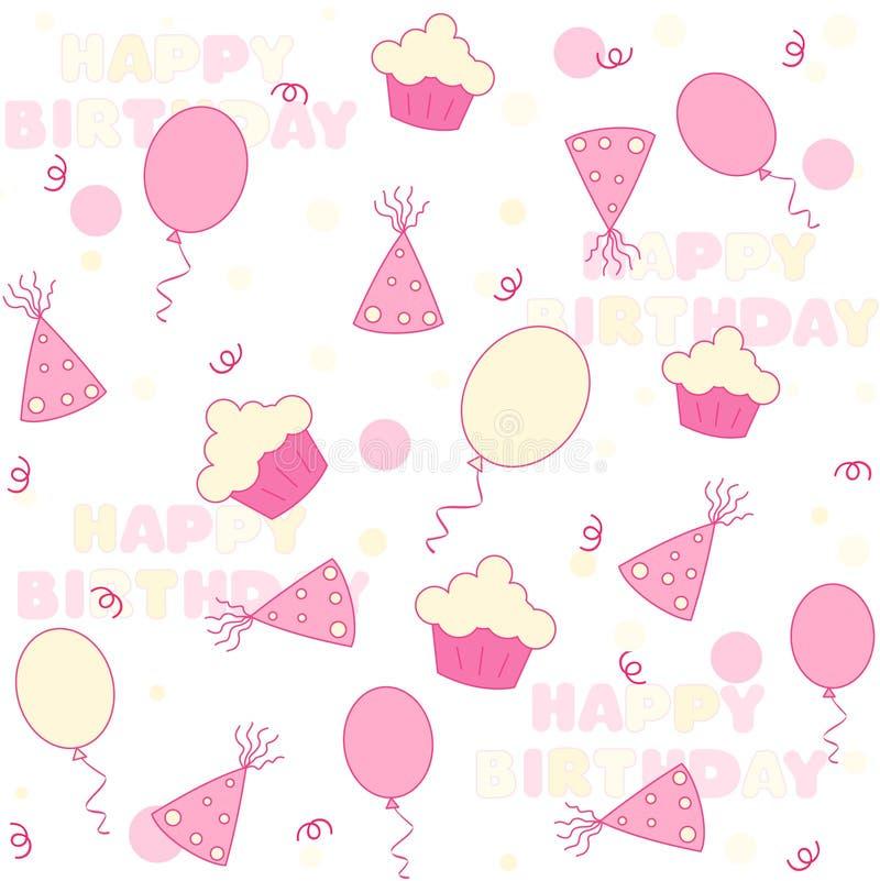 Priorità bassa della festa di compleanno illustrazione di stock