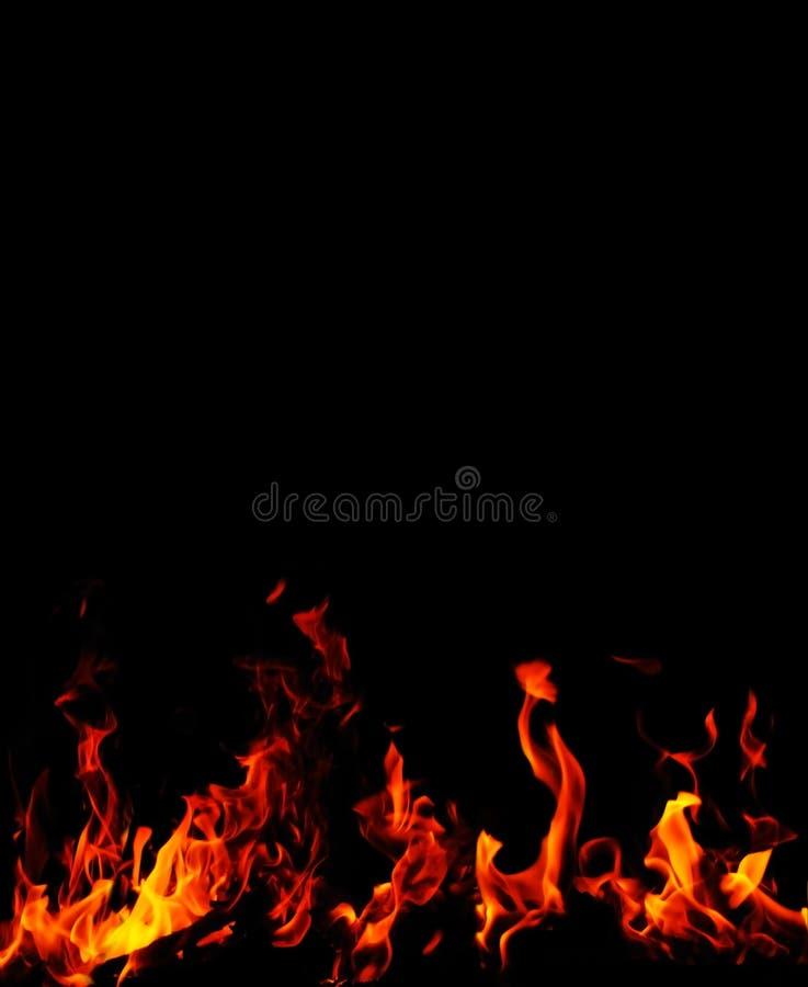 Priorità bassa della fiamma del fuoco fotografia stock
