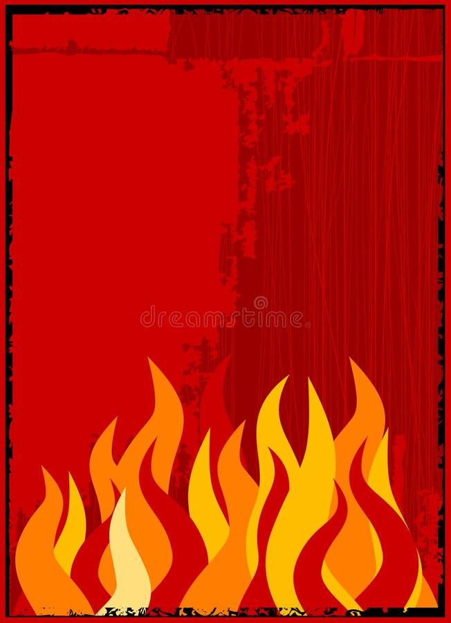 Priorità bassa della fiamma di vettore illustrazione vettoriale