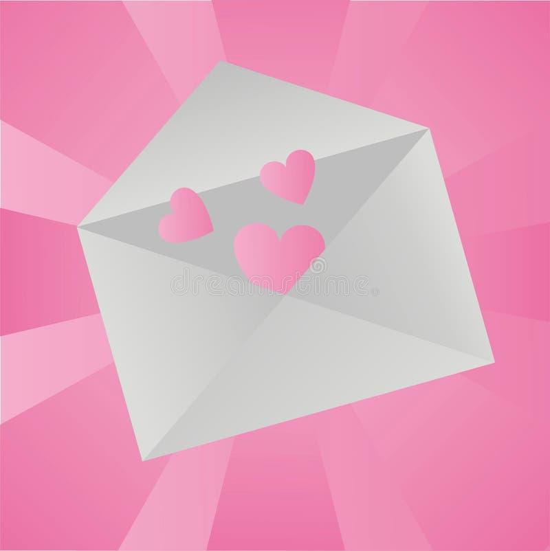 Priorità bassa della lettera di amore illustrazione vettoriale
