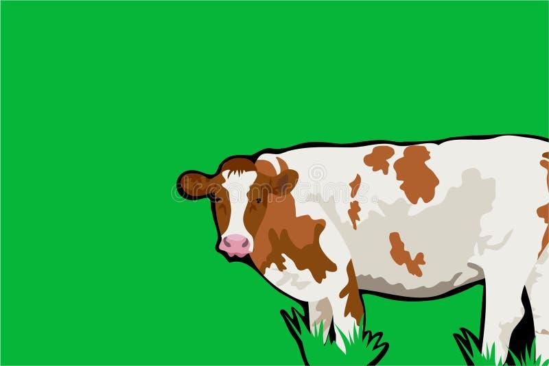 Priorità bassa della mucca illustrazione di stock