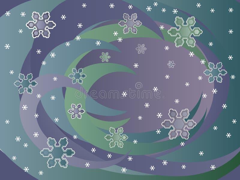 Priorità bassa della neve di inverno royalty illustrazione gratis