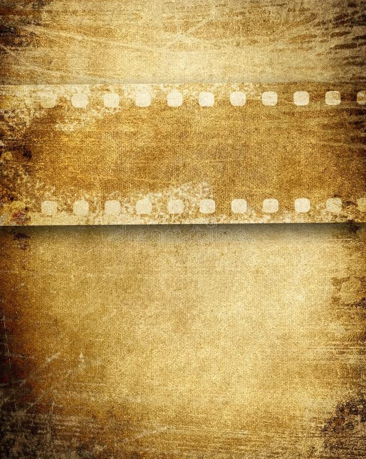 Priorità bassa della pellicola dell'annata illustrazione vettoriale
