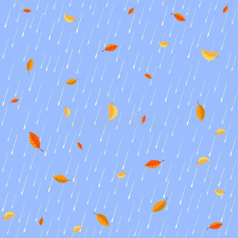 Priorità bassa della pioggia royalty illustrazione gratis