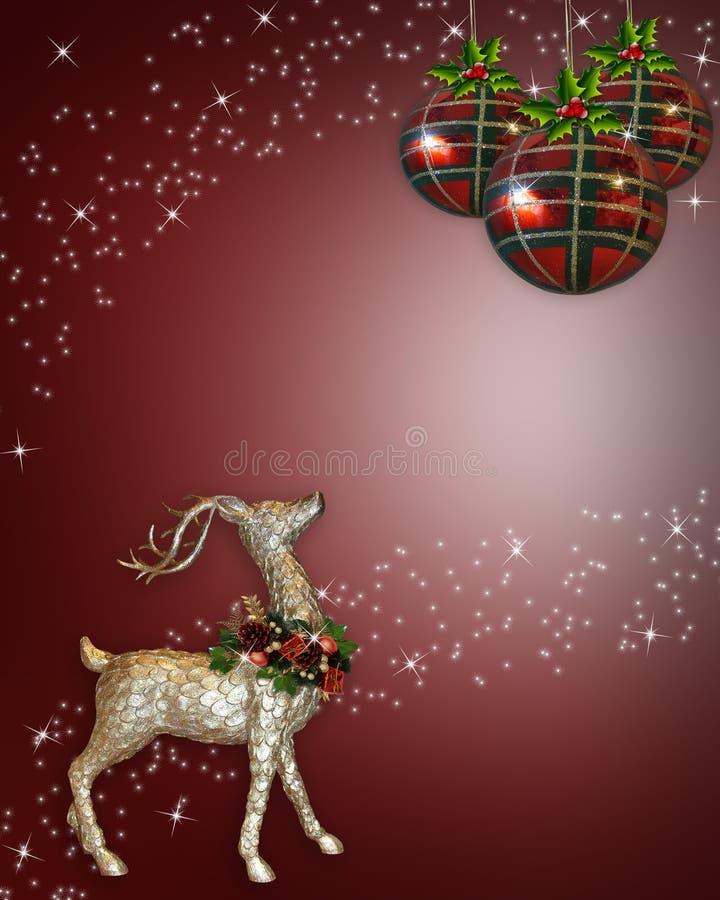 Priorità bassa della renna di natale illustrazione di stock