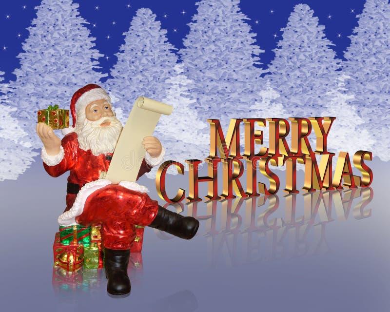 Priorità bassa della Santa di Buon Natale illustrazione vettoriale
