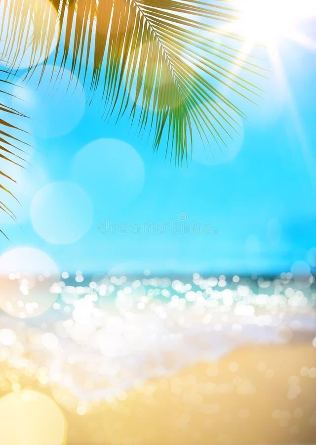 Priorità bassa della spiaggia di estate fotografie stock