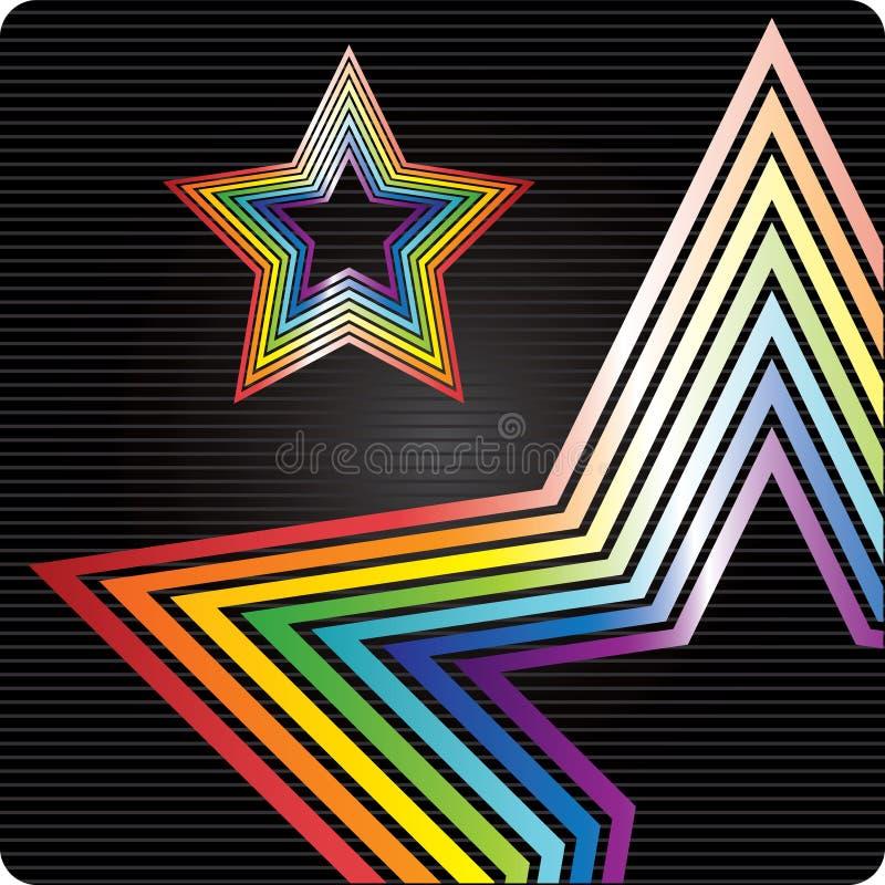 Priorità bassa della stella del Rainbow royalty illustrazione gratis