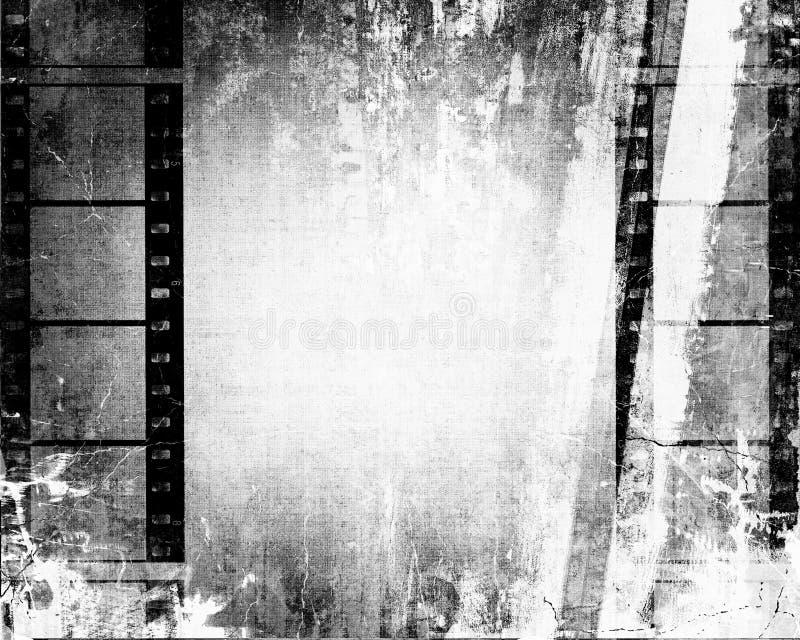 Priorità bassa della striscia della pellicola di Grunge illustrazione vettoriale