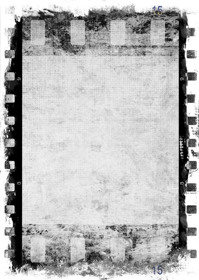 Priorità bassa della striscia della pellicola di Grunge illustrazione di stock