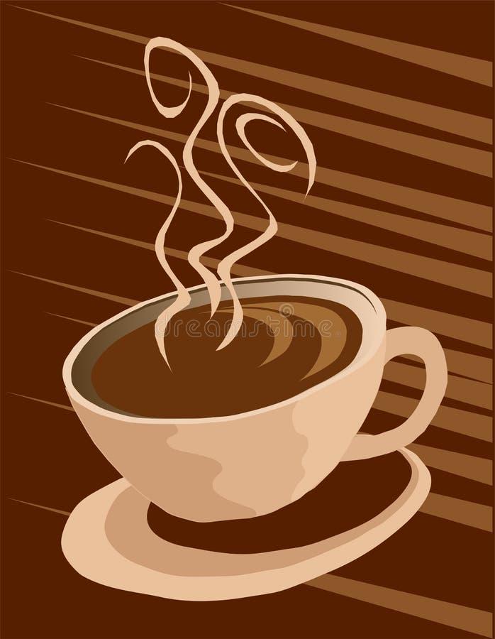 Priorità bassa della tazza di caffè royalty illustrazione gratis