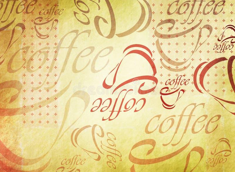Priorità bassa della tazza di caffè di Grunge illustrazione vettoriale