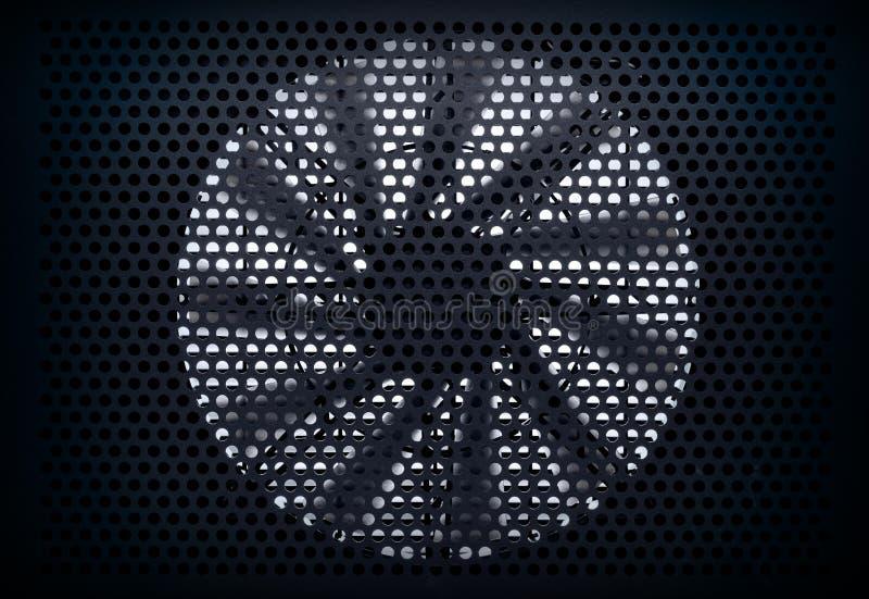 Priorità bassa della turbina del ventilatore immagine stock libera da diritti