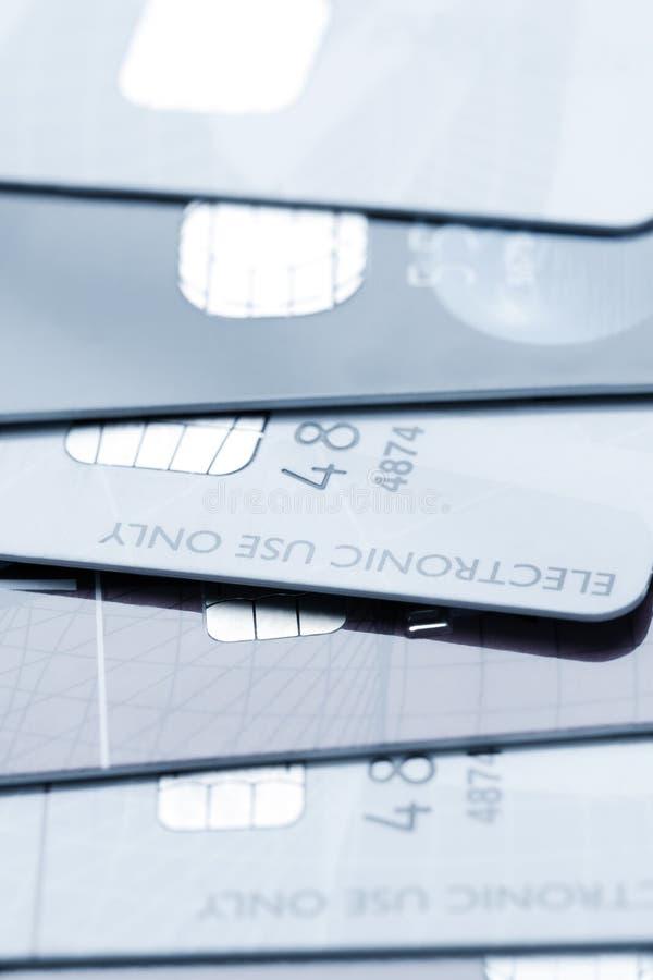 Priorità bassa delle carte di credito fotografie stock libere da diritti