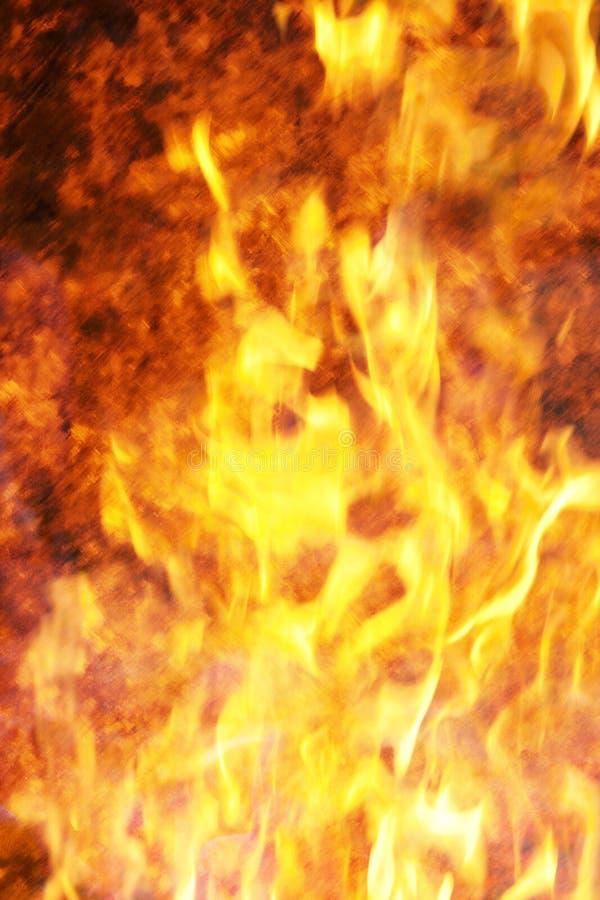 Priorità bassa delle fiamme e del fuoco fotografie stock