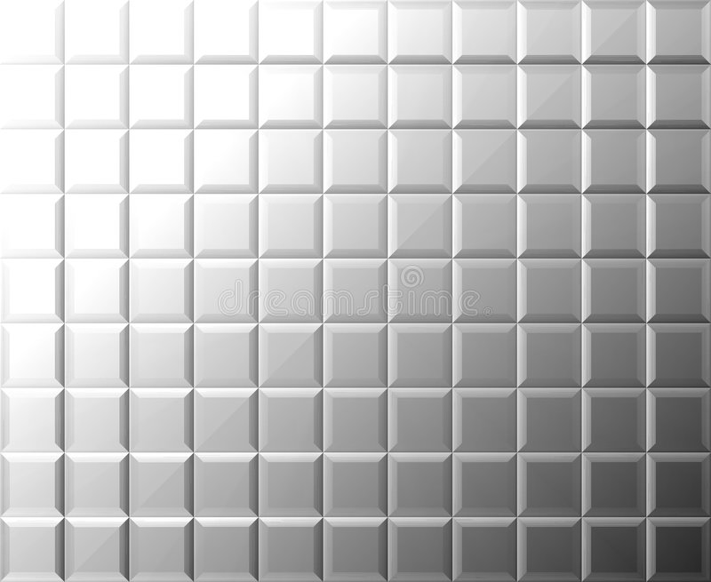 Priorità bassa delle mattonelle del metallo illustrazione vettoriale