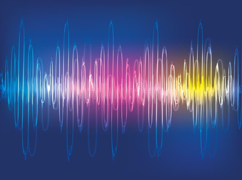 Priorità bassa delle onde sonore illustrazione di stock