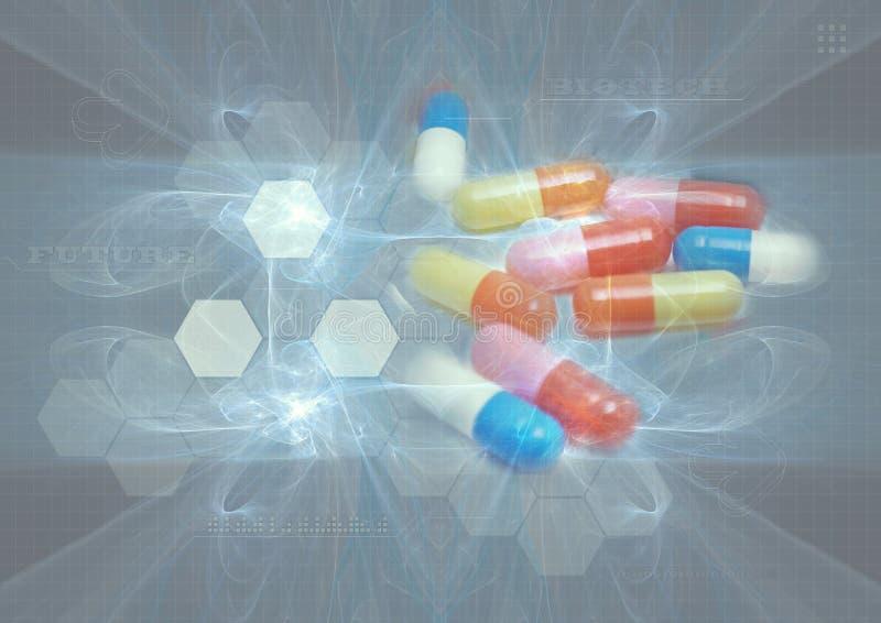 Priorità bassa delle pillole illustrazione di stock