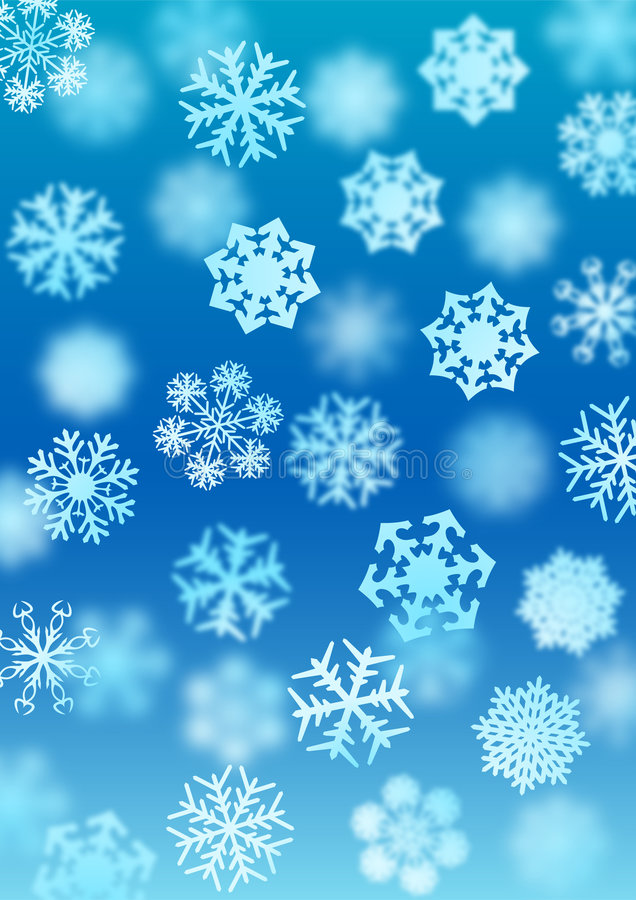 Priorità bassa delle precipitazioni nevose illustrazione di stock