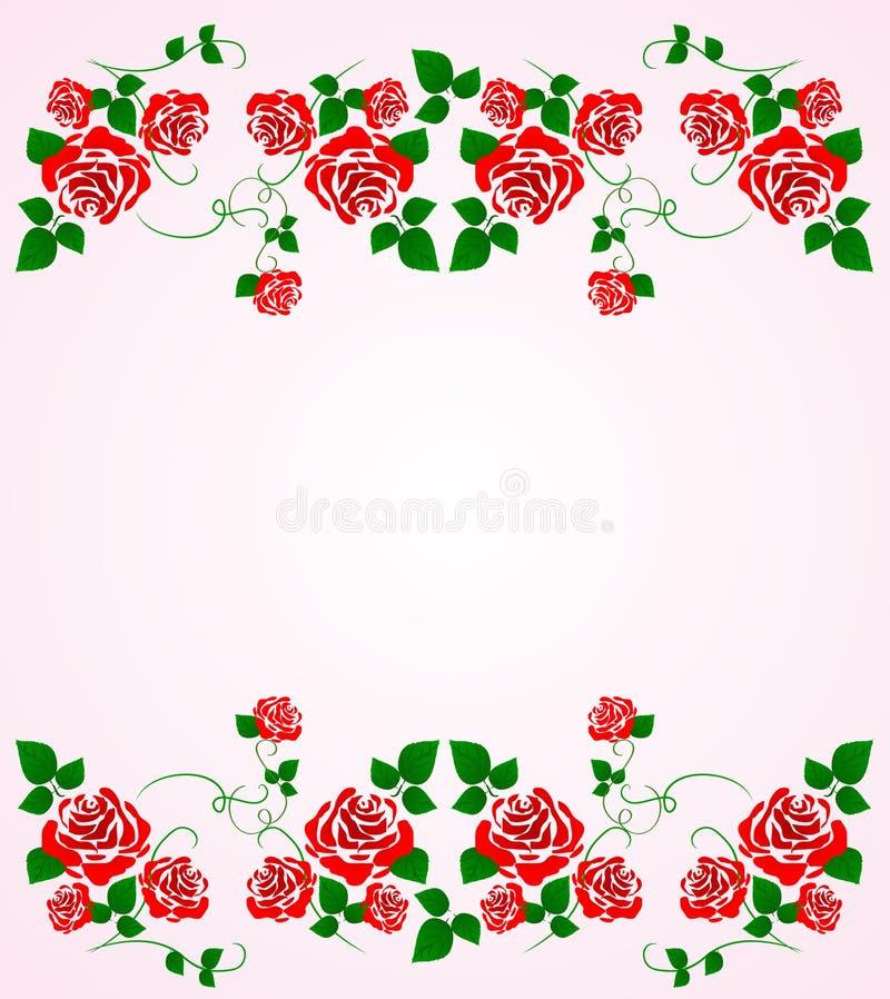 Priorità bassa delle rose illustrazione di stock