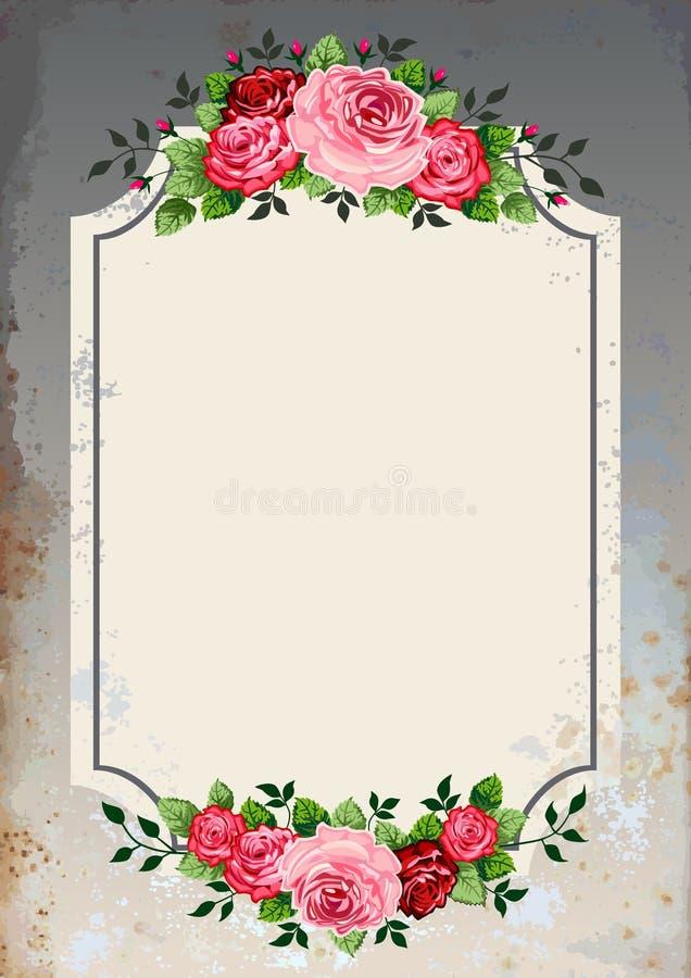 Priorità bassa delle rose dell'annata royalty illustrazione gratis