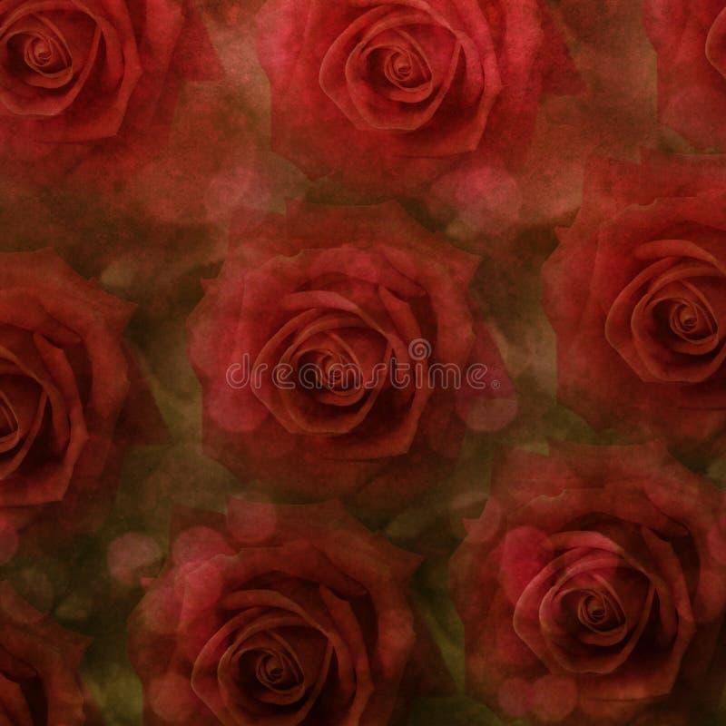 Priorità bassa delle rose di Grunge fotografie stock libere da diritti