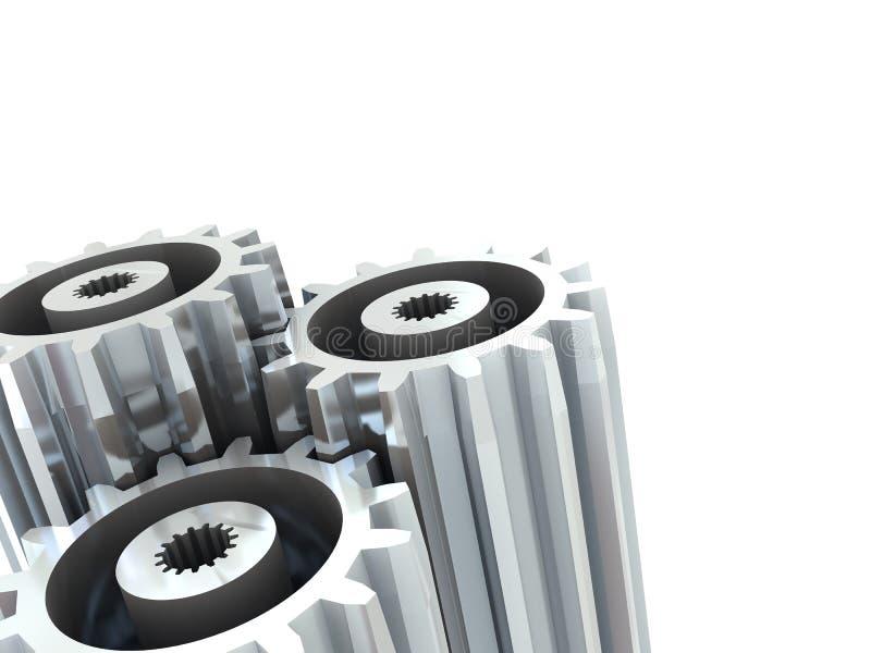 Priorità bassa delle rotelle di attrezzo illustrazione vettoriale