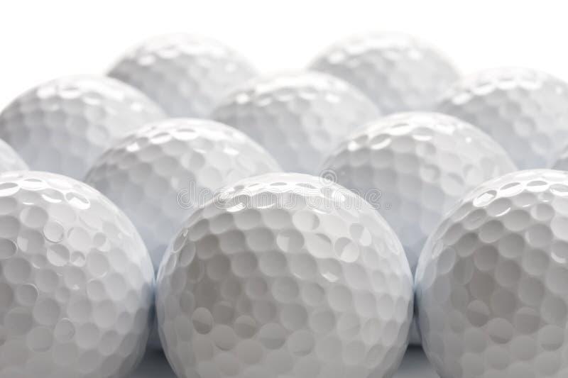 Priorità bassa delle sfere di golf fotografia stock libera da diritti