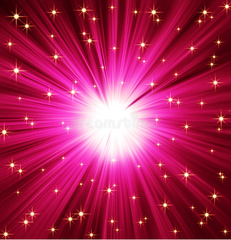 Priorità bassa delle stelle dei raggi luminosi royalty illustrazione gratis