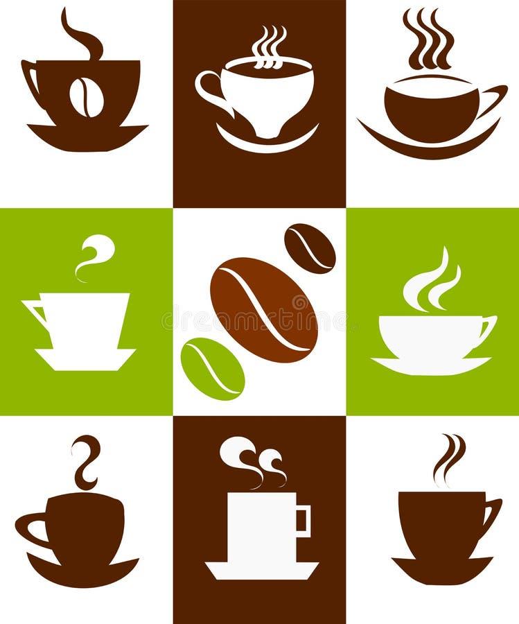 Priorità bassa delle tazze di caffè royalty illustrazione gratis