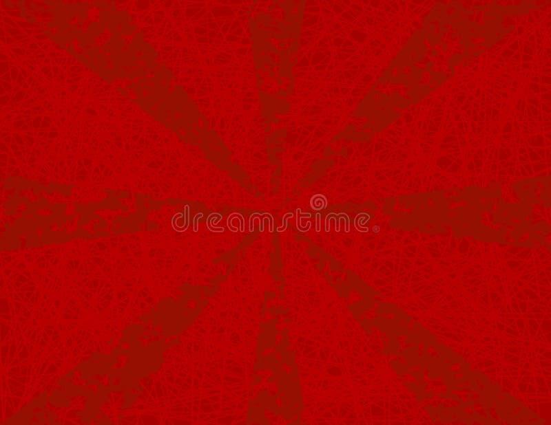 Priorità bassa dello sprazzo di sole di Grunge nel colore rosso royalty illustrazione gratis