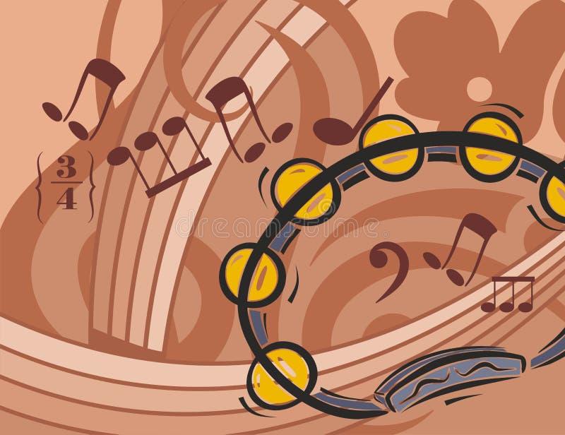 Priorità bassa dello strumento di musica royalty illustrazione gratis