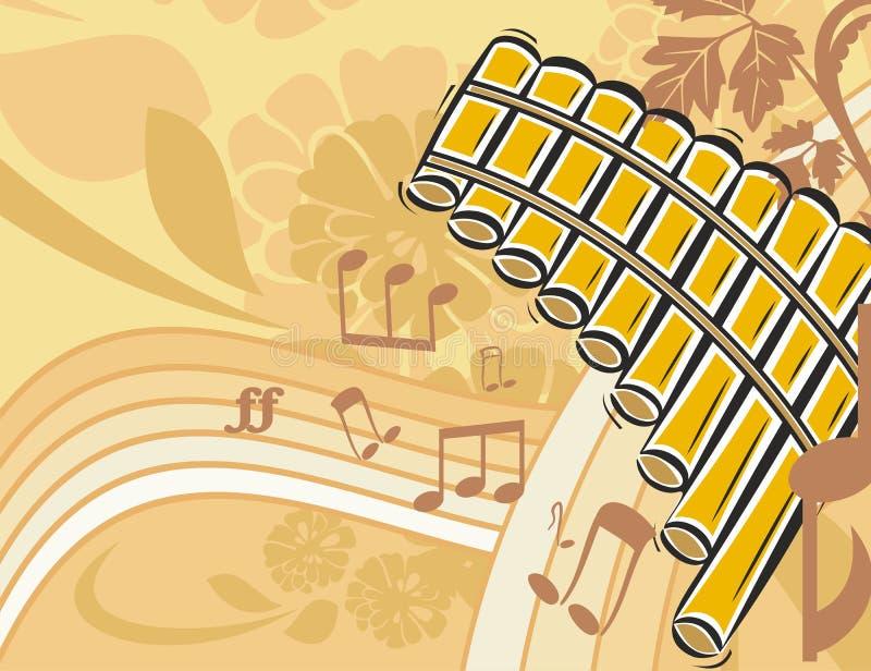 Priorità bassa dello strumento di musica illustrazione vettoriale