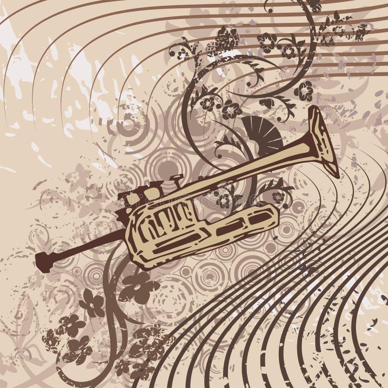 Priorità bassa dello strumento di musica di Grunge royalty illustrazione gratis