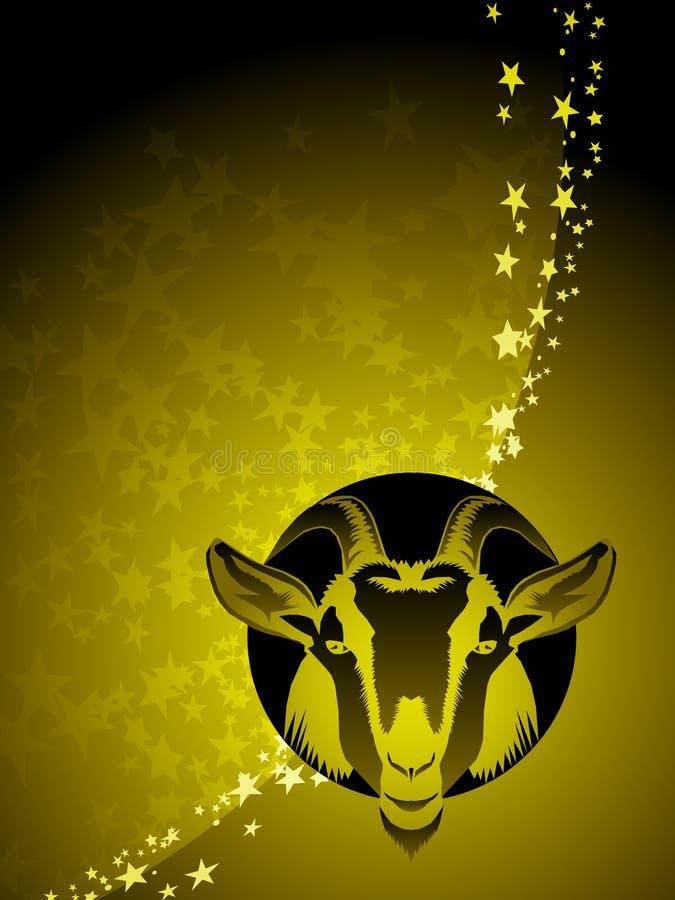 Priorità bassa dello zodiaco del Capricorn illustrazione vettoriale