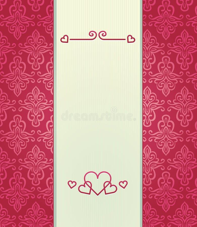 Priorità bassa dentellare dell'annata con il tema di amore royalty illustrazione gratis