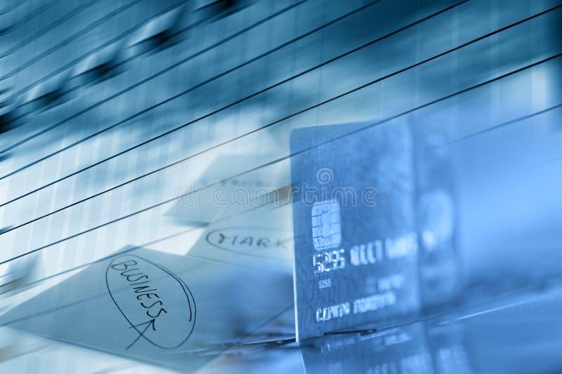 Priorità bassa di affari della carta di credito fotografie stock
