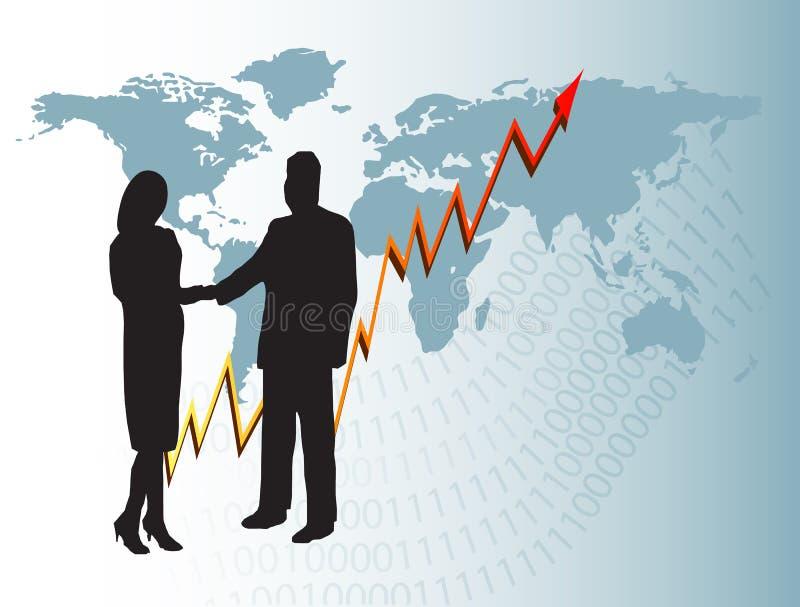 Download Priorità Bassa Di Affari Globali Illustrazione Vettoriale - Illustrazione di businessman, uomo: 7309979