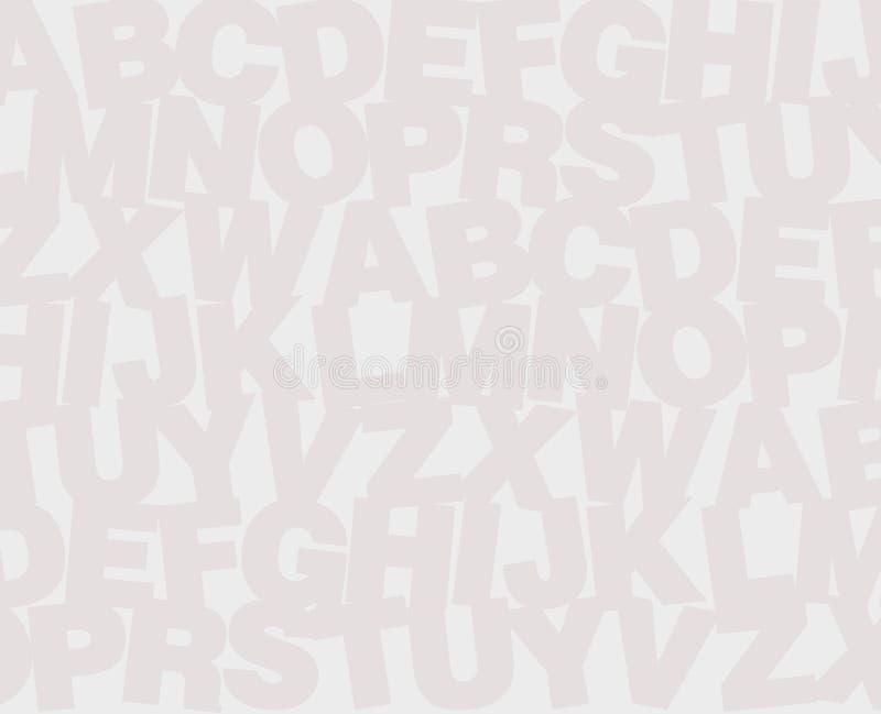 Priorità bassa di alfabeto illustrazione di stock