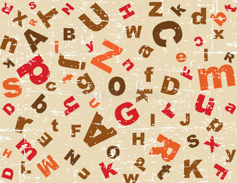 Priorità bassa di alfabeto di Grunge royalty illustrazione gratis