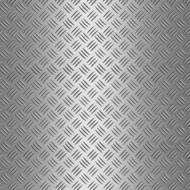 Priorità bassa di alluminio della zolla del diamante illustrazione di stock