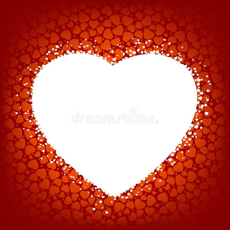 Priorità bassa di amore fatta dai cuori rossi. ENV 8 illustrazione vettoriale