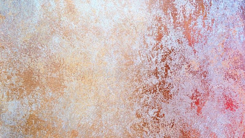 Priorità bassa di arte astratta Pittura a olio su tela di canapa Struttura di colore Frammento di materiale illustrativo Punti de fotografia stock libera da diritti