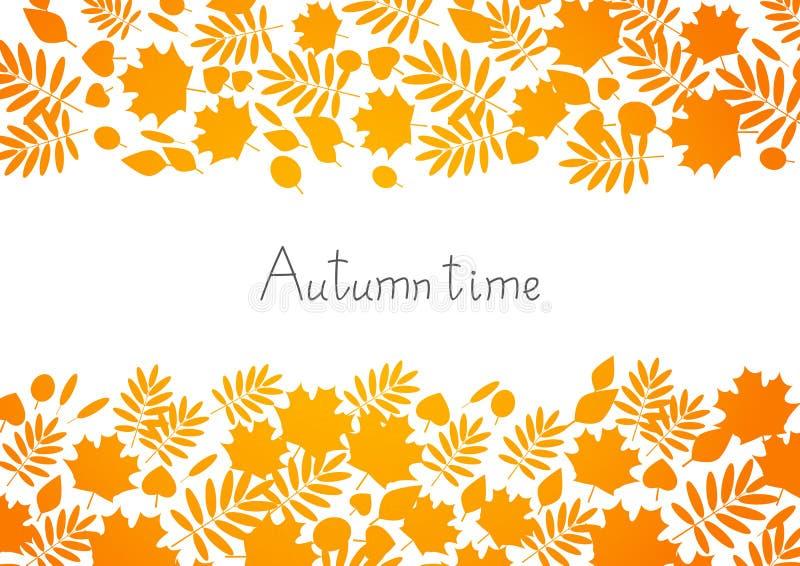 Download Priorità bassa di autunno illustrazione vettoriale. Illustrazione di siluetta - 56886164