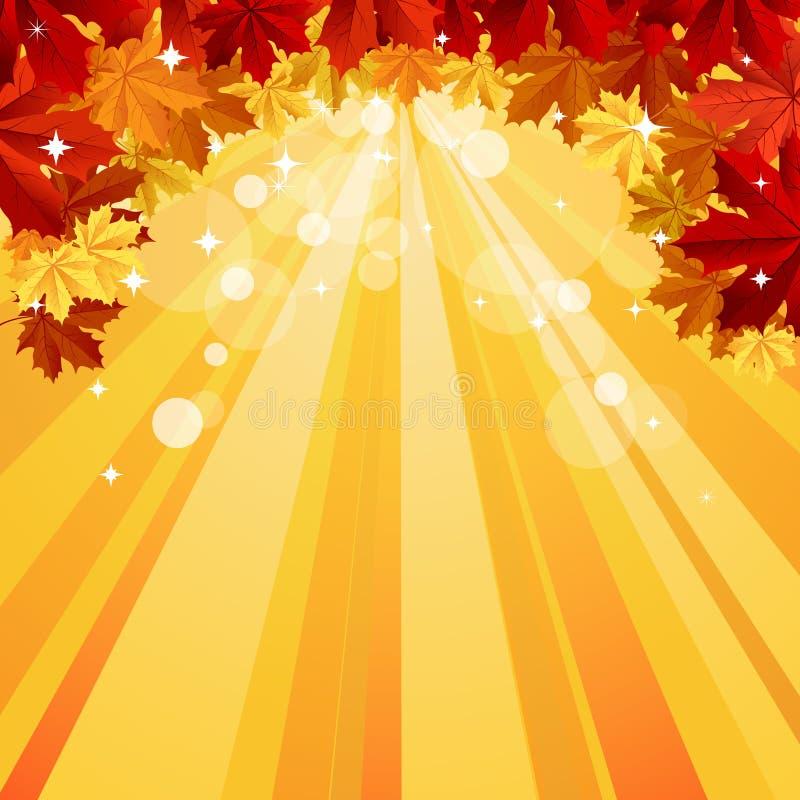 Priorità bassa di autunno con spazio per testo royalty illustrazione gratis