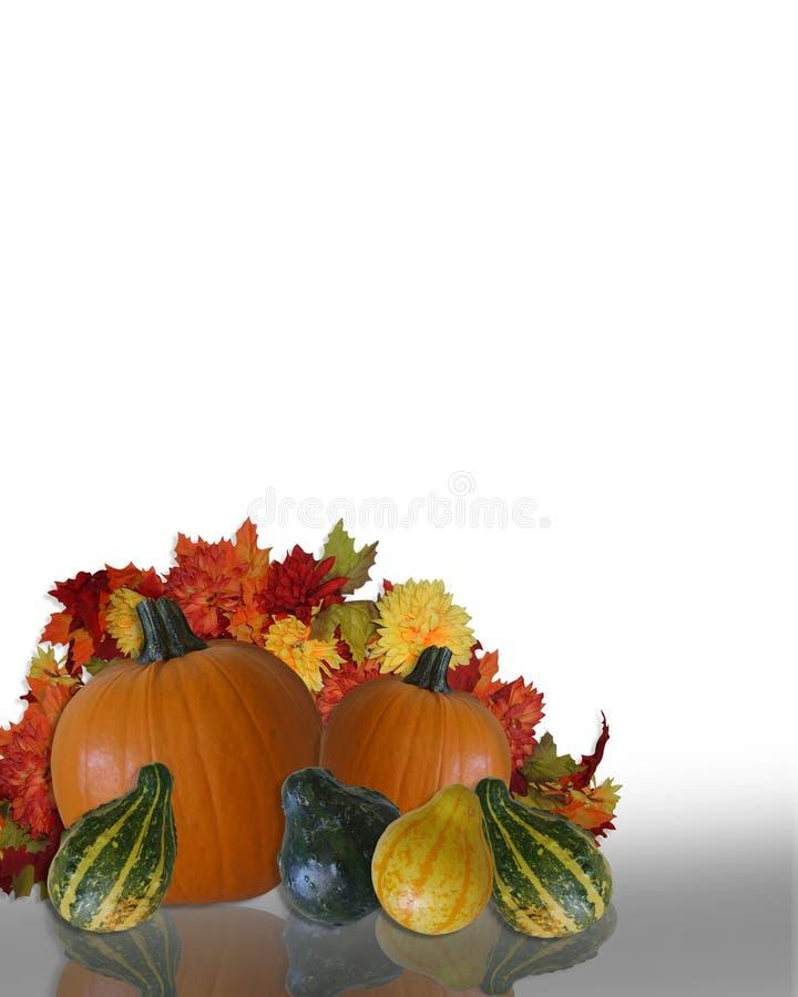 Priorità bassa di autunno di caduta di ringraziamento illustrazione vettoriale