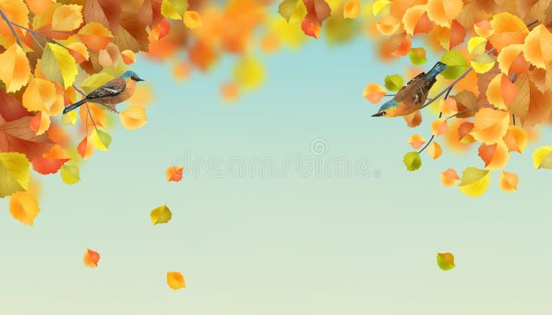 Priorità bassa di autunno di vettore illustrazione di stock