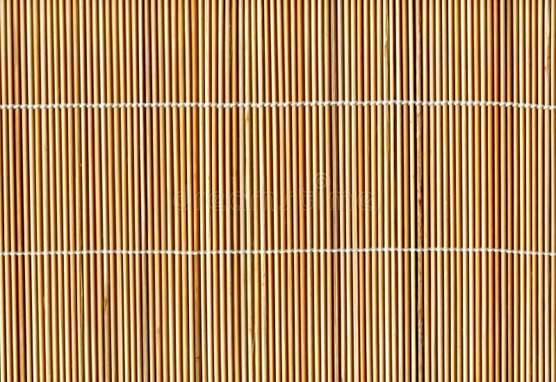 Priorità bassa di bambù di struttura della stuoia della paglia del bastone illustrazione di stock