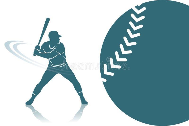Priorità bassa di baseball royalty illustrazione gratis