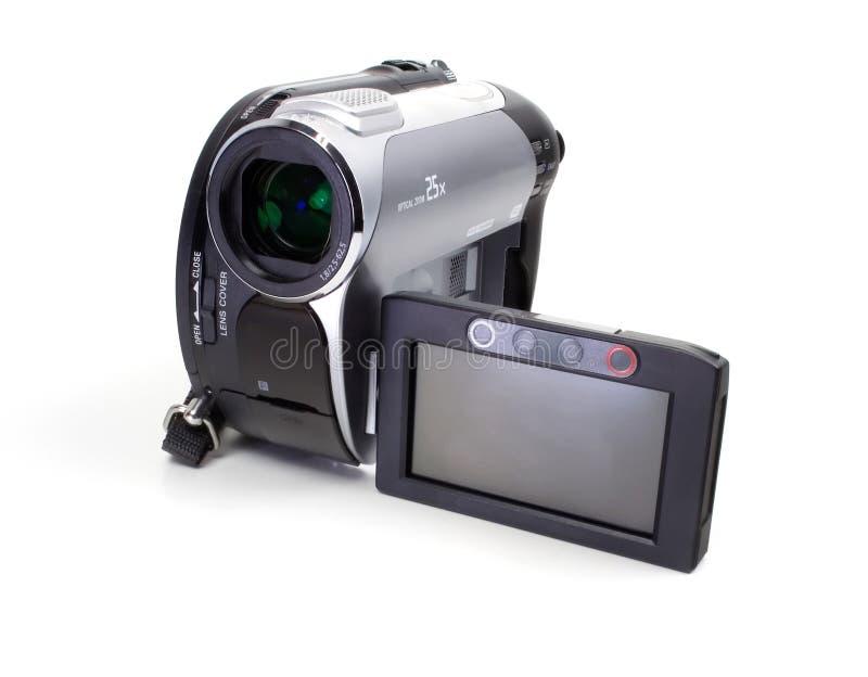 Priorità bassa di bianco della videocamera di Digitahi fotografia stock